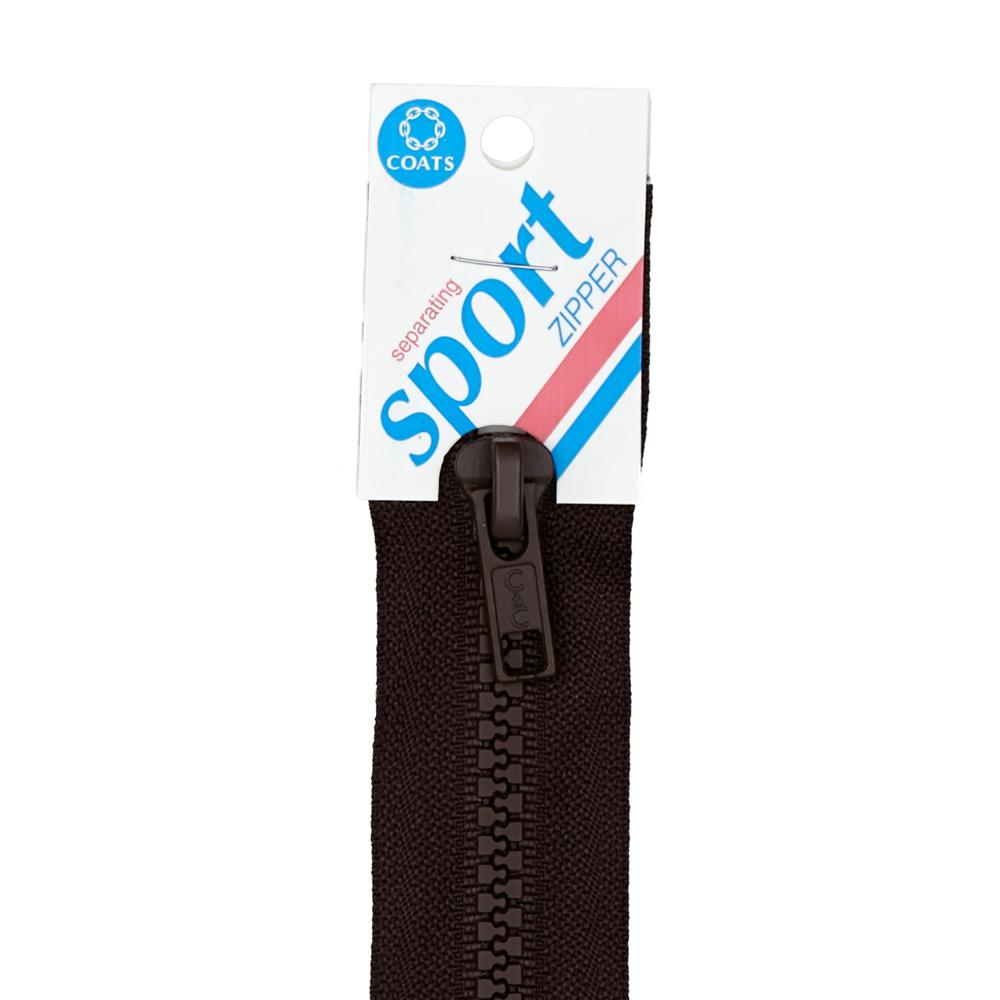 "Coats & Clark Sport Separating Zipper 24"" Cloister Brown"