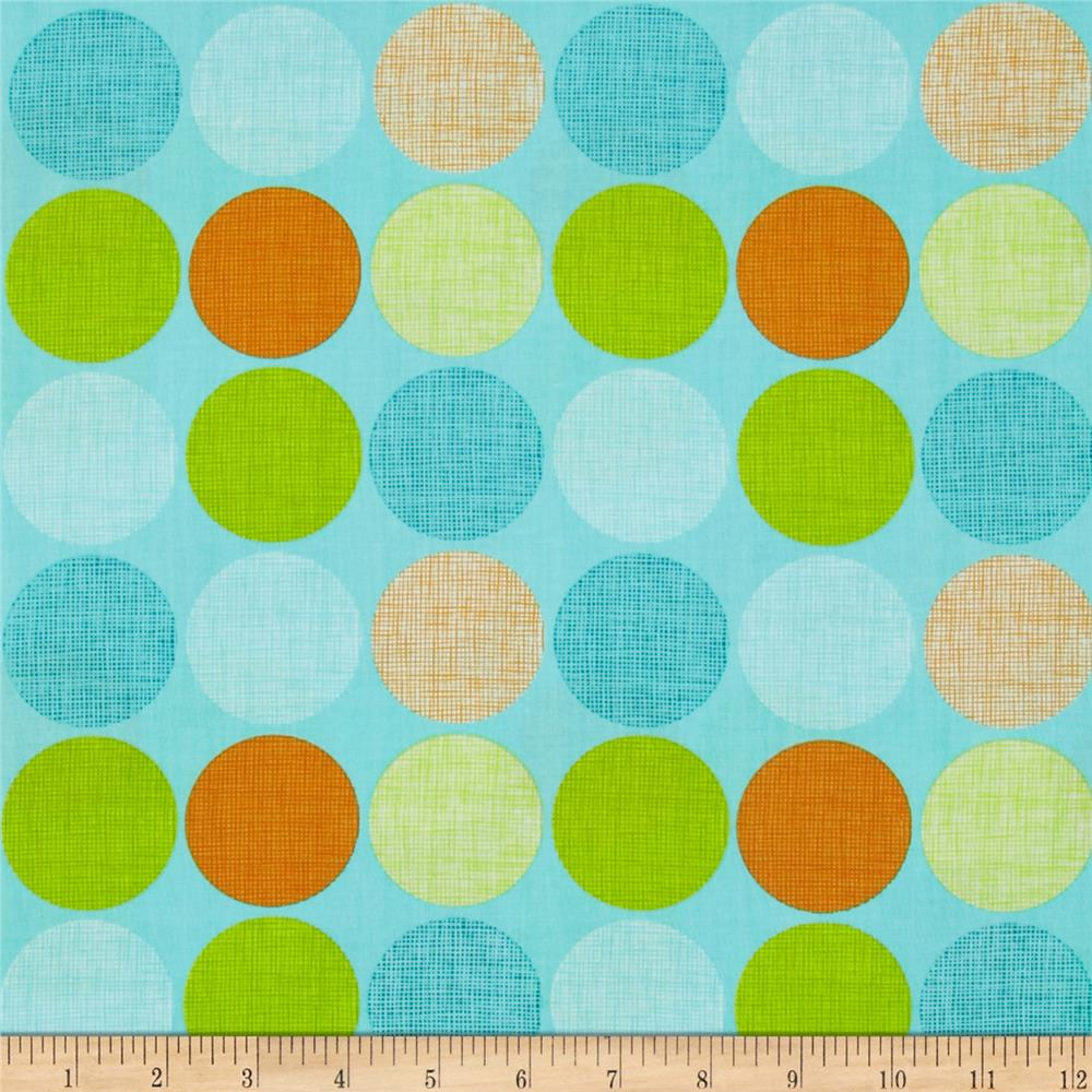 Frolicking Forest Dots Blue