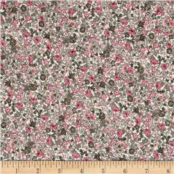French Designer Cotton Gauze Small Floral Ivory/Pink/Sage