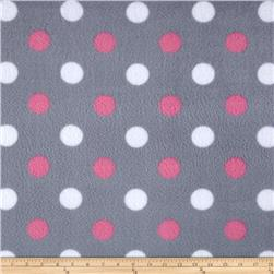 Simply Happy Dot Fleece Grey/Pink