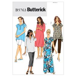 Butterick Misses'/Women's Maternity Top Dress Belt Shorts and