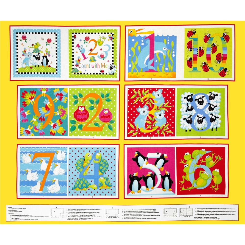 Alphabet Soup Soft Book Panel Multi
