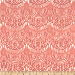 Deco Lace Coral Orange