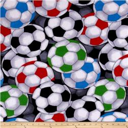 Simply Packed Fleece Soccerballs Black/Multi
