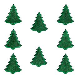 Dress It Up Embellishment Buttons  Glitter Evergreen