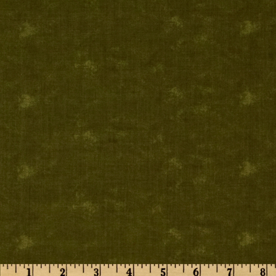 Moda Sandy's Solid Dark Green Fabric