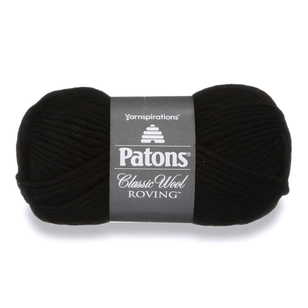 Patons Classic Wool Roving Yarn Black