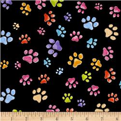 Loralie Designs Dog Gone Pawful Paws Black