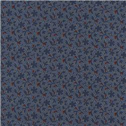 Timeless Treasures Americana Montone Floral Blue