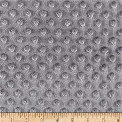 Minky Plush Dot Charcoal