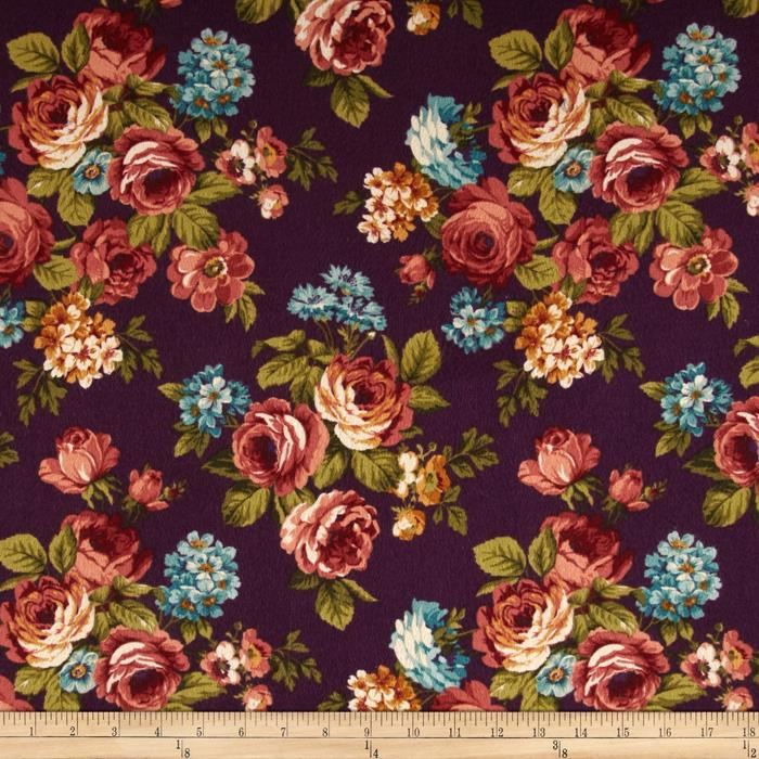 Kensington Flannel Kensington Plum Fabric By The Yard