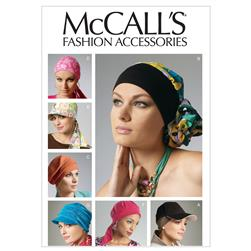 McCall's Headband, Head Wraps and Hats Pattern M6521 Size OSZ