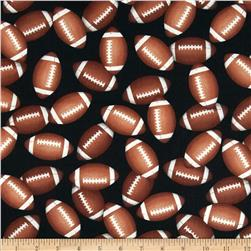 Sports Life 3 Footballs Black Fabric