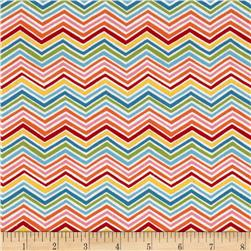 Moda Bloomin' Fresh Spring Chevrons Pink/Multi Fabric
