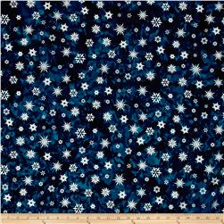 Kaufman Batiks Noel Metallic Snowflake Winter