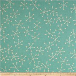 Kaufman Sevenberry Canvas Cotton Flax Prints Geo Aqua