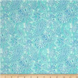 Something Blue Linear Paisley Aqua