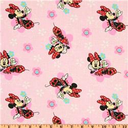 Minnie Mouse Floral Badges Pink