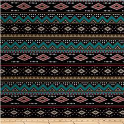 ITY Jersey Knit Aztec Black/Brown/Jade