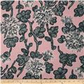 Bloom Voile Flowers Pink/Grey