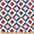 Kaufman Geo Pop Canvas Home Decor Diamond Plaid Bright
