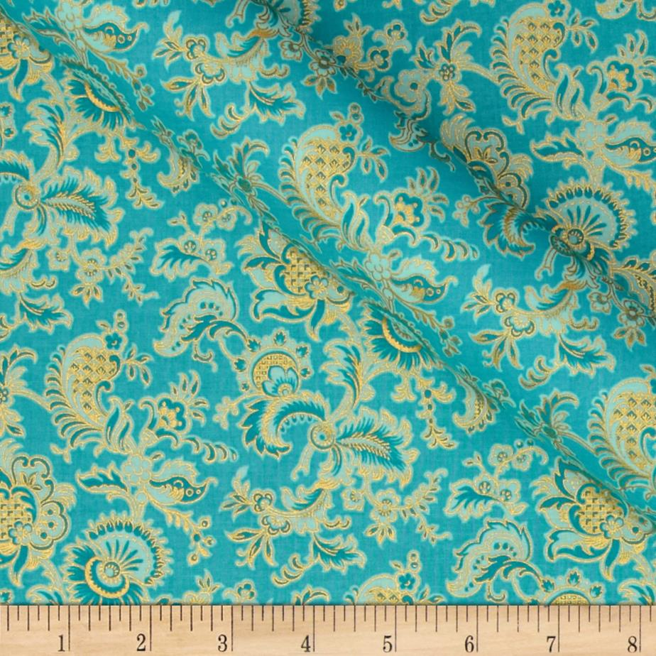 Alchemy Metallic Jacobean Aqua