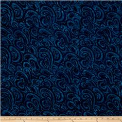 Timeless Treasures Tonga Batiks Oceana Waves Navy