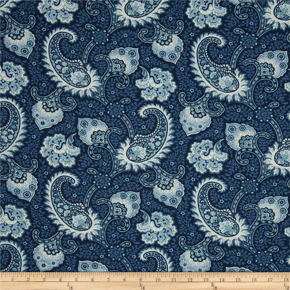 Waverly Little Falls Paisley Indigo