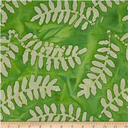 Indian Batik Arcadia Palm Leaf Green/Natural