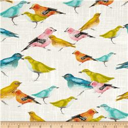 Michael Miller Flutter Birdies White Fabric