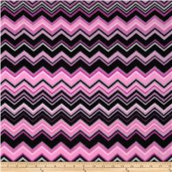 Fleece Chevron Pink/Black