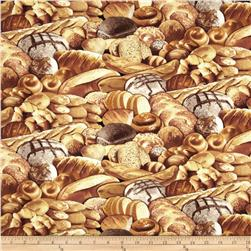Timeless Treasures Food Bread Beige