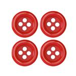 Fashion Button 5/8'' Pizazz Red