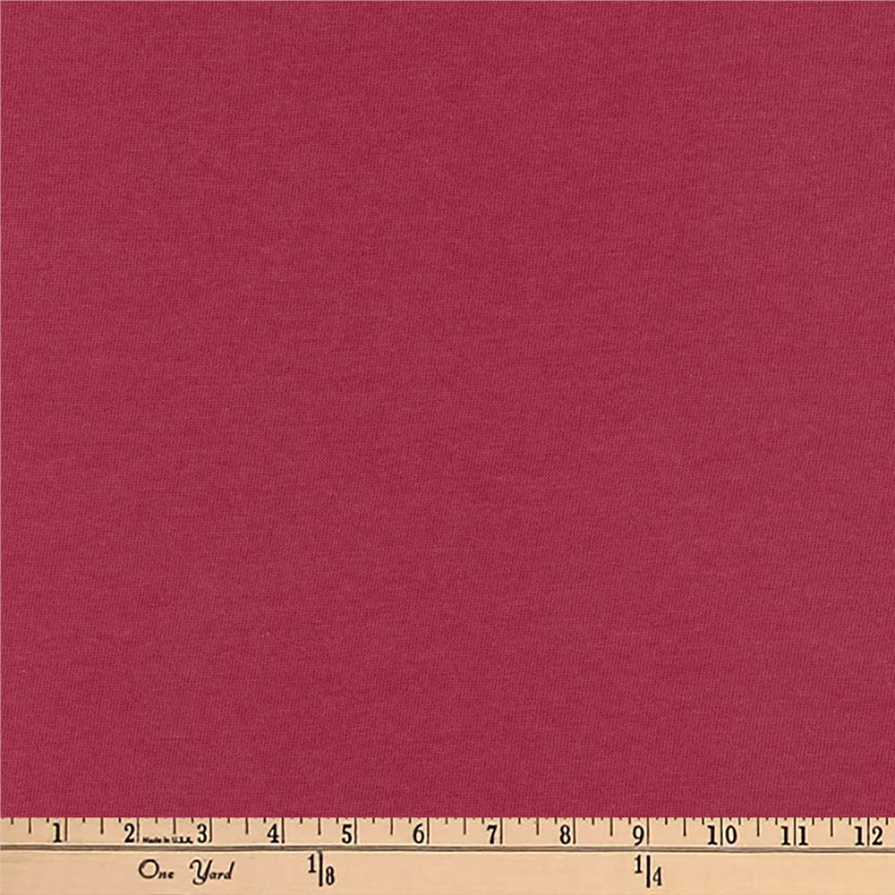 Kaufman Dana Jersey Knit 4.8 oz Dark Rose Fabric