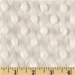 "Shannon Minky Cuddle Dimple Dot 90"" Ivory"