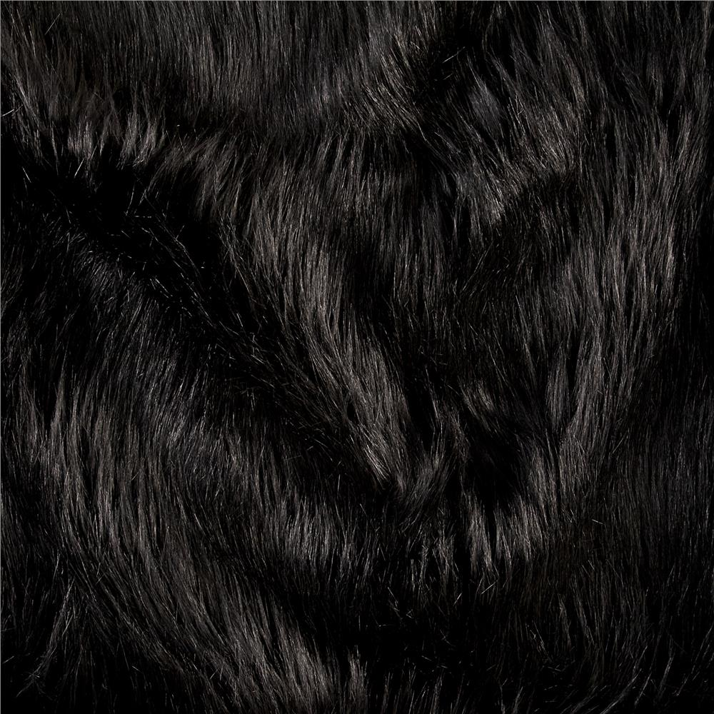 Luxury Faux Fur Fox Black