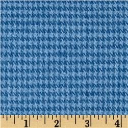 Highland Yarn Dyed Flannel Houndstooth Light Blue