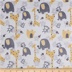 Minky Jungle Dreams Yellow