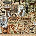Timeless Treasures Deep In The Woods Hunting Motifs Natural