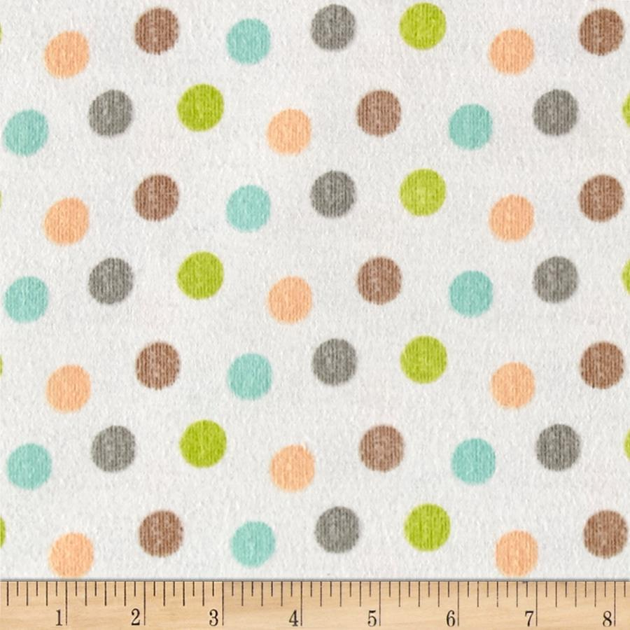 Zoovenirs Flannel Dots Ivory Fabric