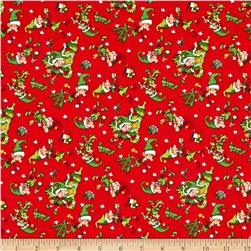 Santa's Workshop Elves Multi Red