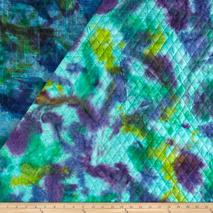 Indian Batik Double Face Quilted Abstract Blue