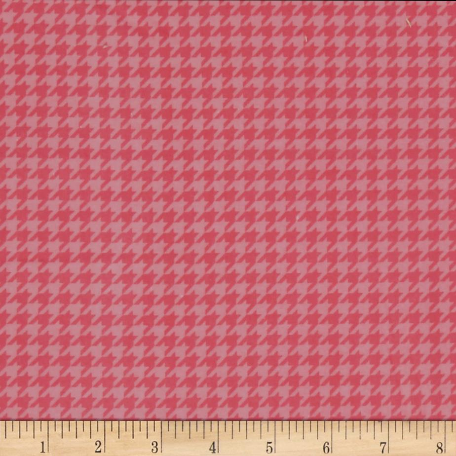Kimberbell Little One Flannel Too! Houndstooth Pink