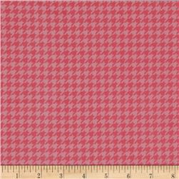 Kimberbell Little One Flannel Too! Flannel Houndstooth Pink