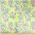 Riley Blake Floriography Laminate Blossoms Green