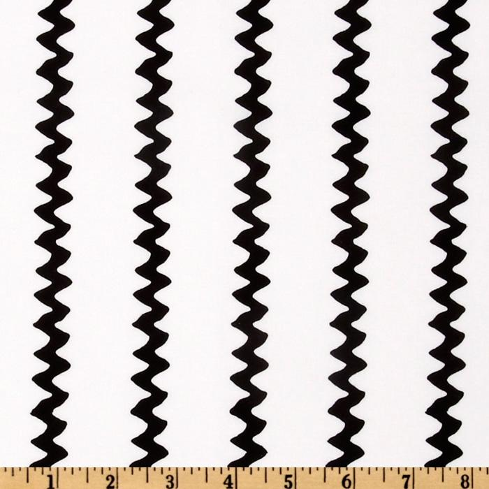 Happiness Is…Peanuts Zig Zag Stripes Black/White