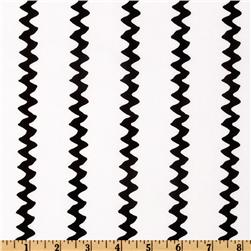 Happiness Is…Peanuts Zig Zag Stripes Black/White Fabric