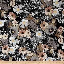 Floral ITY Knit Black/Ivory/Gray