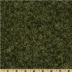 Moda Marble Swirls (9908-47) Pine Green Fabric