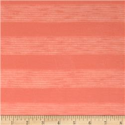 Sheer Stripe Tissue Hatchi Sweater Knit Orange